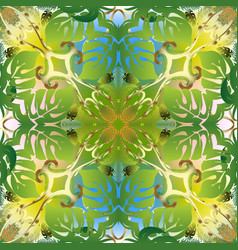 floral green tropic palm seamless pattern vector image