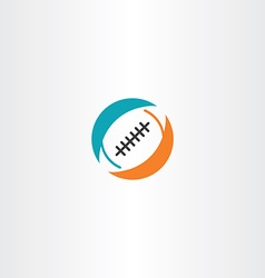 football rugicon logo vector image