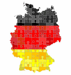 Germany map made of puzzle background vector