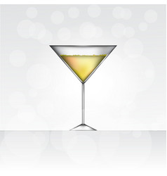 glass of martini bianko vector image