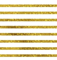 Golden striped seamless pattern set vector