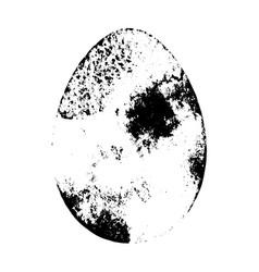 grunge egg isolated vector image