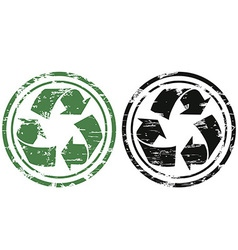 Grunge recycling stamp vector