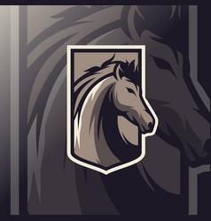 Horse mascot esport logo vector