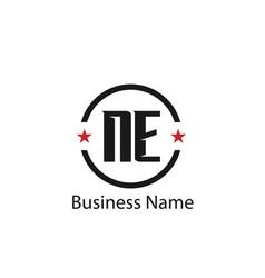 initial letter ne logo template design vector image