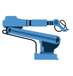 isolated robotic arm icon vector image