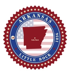Label sticker cards of State Arkansas USA vector image