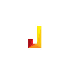 letter j logo icon design vector image