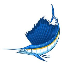 Marlin sailfish with big sail fin vector