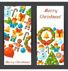 Merry Christmas holiday banners with celebration vector
