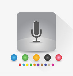 microphone icon sign symbol app in gray square vector image