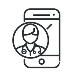 online health smartphone doctor consult app covid vector image