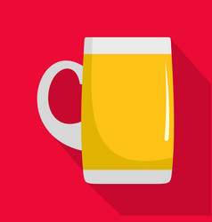 pint of beer icon flat style vector image