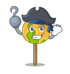 Pirate candy apple character cartoon vector