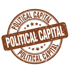 Political capital brown grunge stamp vector