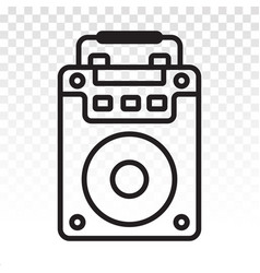 Portable speaker active line art icons for apps vector