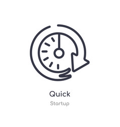 Quick outline icon isolated line from startup vector
