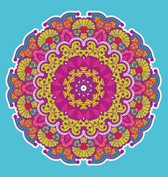 Round colorful mandala vector