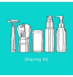 Shaving kit vector