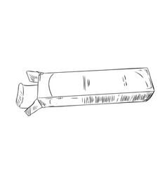 sketch an open box vector image
