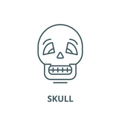 skull line icon linear concept outline vector image