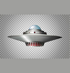 Spacecraft design on transparent background vector