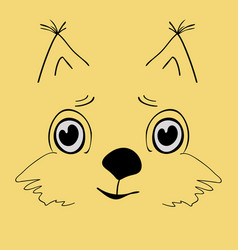squirrel cute head cartoon vector image