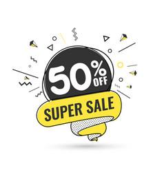 super sale weekend special offer vector image