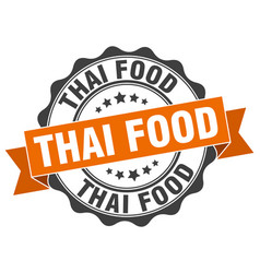 Thai food stamp sign seal vector