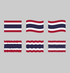thailand flag set official vector image