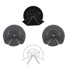 Tunnel single icon in cartoonblack styletunnel vector