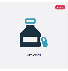 Two color medicines icon from science concept vector