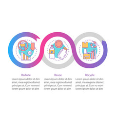 Waste management infographic template business vector