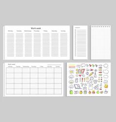 Work week set papers on vector