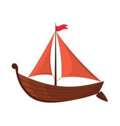 yacht sailboat or sail boat marine cruise travel vector image