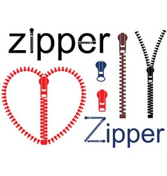 Zipper vector image