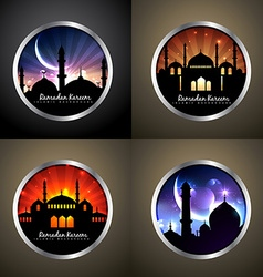 attractive set of festival eid background vector image vector image