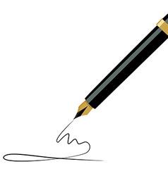 Fountain pen writing vector image vector image