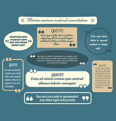 retro quote box set or vintage comment frame vector image