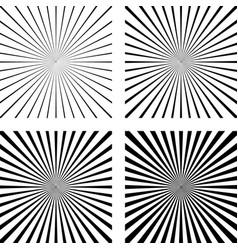 set template light rays background comic pop art vector image vector image