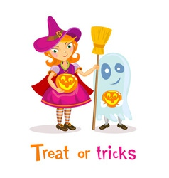 Treat or tricks vector image