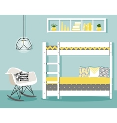 with baby bedroom vector image vector image