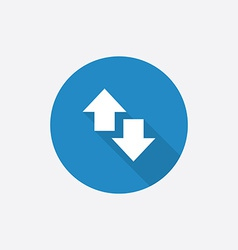 arrow Flat Blue Simple Icon with long shadow vector image