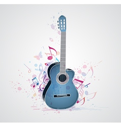 blue guitar vector image vector image