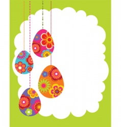 Easter border vector image vector image