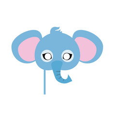 elephant carnival mask big animal with large ears vector image vector image