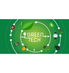 Green tech eco environment friendly technology vector