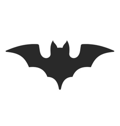 Halloween Bat Icon on White Background vector image vector image