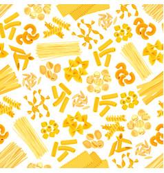 Pasta and italian macaroni seamless pattern vector