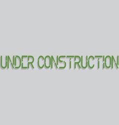 Robot under construction concept eps 10 vector image